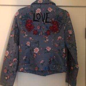 Desigual leather like motorcycle jacket NWT LOVE 2